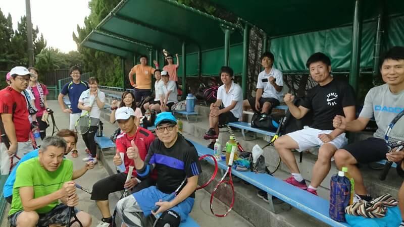 テニスイベント後