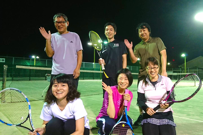テニスイベント終了後
