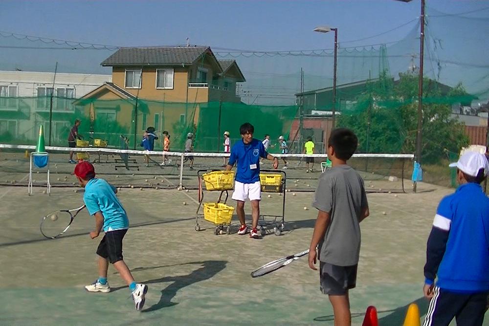 ソフトテニスレッスン写真