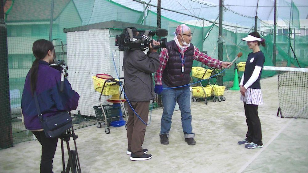 テレビ取材インタビュー画像